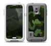 The Dark Green Camouflage Textile Skin for the Samsung Galaxy S5 frē LifeProof Case