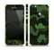 The Dark Green Camouflage Textile Skin Set for the Apple iPhone 5s