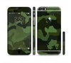 The Dark Green Camouflage Textile Sectioned Skin Series for the Apple iPhone 6
