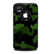 The Dark Green Camouflage Textile Skin for the iPhone 4-4s OtterBox Commuter Case
