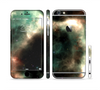 The Dark Green Glowing Universe Sectioned Skin Series for the Apple iPhone 6 Plus