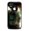 The Dark Green Glowing Universe Skin for the iPhone 4-4s OtterBox Commuter Case