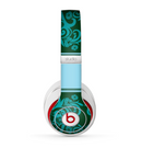 The Dark Green & Light Blue Vintage Pattern Skin for the Beats by Dre Studio (2013+ Version) Headphones