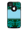 The Dark Green & Light Blue Vintage Pattern Skin for the iPhone 4-4s OtterBox Commuter Case