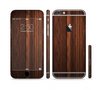 The Dark Heavy WoodGrain Sectioned Skin Series for the Apple iPhone 6 Plus