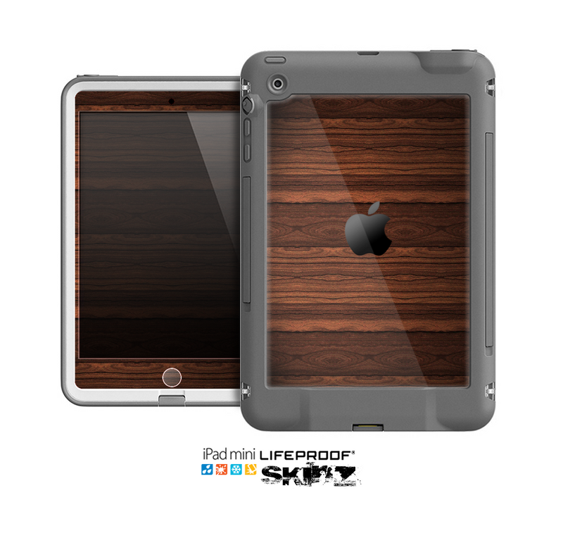 The Dark Heavy WoodGrain Skin for the Apple iPad Mini LifeProof Case