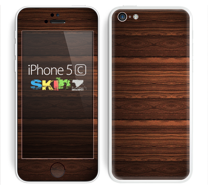 The Dark Heavy WoodGrain Skin for the Apple iPhone 5c