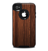 The Dark Heavy WoodGrain Skin for the iPhone 4-4s OtterBox Commuter Case