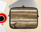 The Dark Highlighted Old Wood Ink-Fuzed NeoPrene MacBook Laptop Sleeve