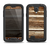 The Dark Highlighted Old Wood Samsung Galaxy S4 LifeProof Nuud Case Skin Set