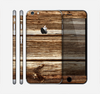 The Dark Highlighted Old Wood Skin for the Apple iPhone 6 Plus