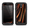 The Dark Orange Shadow Fabric Samsung Galaxy S4 LifeProof Nuud Case Skin Set