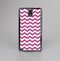 The Dark Pink & White Chevron Pattern V2 Skin-Sert Case for the Samsung Galaxy Note 3