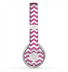 The Dark Pink & White Chevron Pattern V2 Skin for the Beats by Dre Solo 2 Headphones