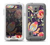 The Dark Purple & Colorful Floral Pattern Skin Samsung Galaxy S5 frē LifeProof Case