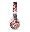 The Dark Purple & Colorful Floral Pattern Skin for the Beats by Dre Studio (2013+ Version) Headphones