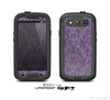 The Dark Purple Delicate Pattern Skin For The Samsung Galaxy S3 LifeProof Case