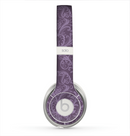 The Dark Purple Delicate Pattern Skin for the Beats by Dre Solo 2 Headphones