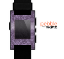 The Dark Purple Delicate Pattern Skin for the Pebble SmartWatch