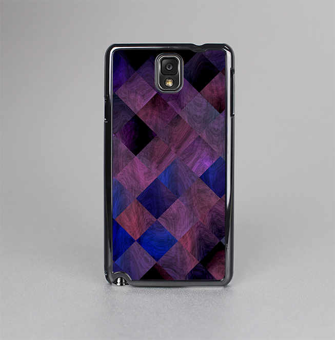 The Dark Purple Highlighted Tile Pattern Skin-Sert Case for the Samsung Galaxy Note 3