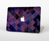 The Dark Purple Highlighted Tile Pattern Skin for the Apple MacBook Air 13""