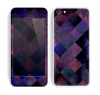 The Dark Purple Highlighted Tile Pattern Skin for the Apple iPhone 5c