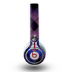 The Dark Purple Highlighted Tile Pattern Skin for the Beats by Dre Mixr Headphones