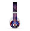 The Dark Purple Highlighted Tile Pattern Skin for the Beats by Dre Studio (2013+ Version) Headphones
