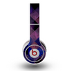 The Dark Purple Highlighted Tile Pattern Skin for the Original Beats by Dre Wireless Headphones