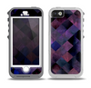 The Dark Purple Highlighted Tile Pattern Skin for the iPhone 5-5s OtterBox Preserver WaterProof Case