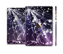 The Dark Purple Light Arrays with Glowing Vines Full Body Skin Set for the Apple iPad Mini 3