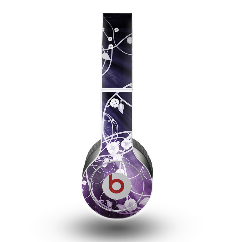 The Dark Purple Light Arrays with Glowing Vines Skin for the Beats by Dre Original Solo-Solo HD Headphones