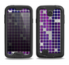 The Dark Purple Squares Pattern Samsung Galaxy S4 LifeProof Nuud Case Skin Set
