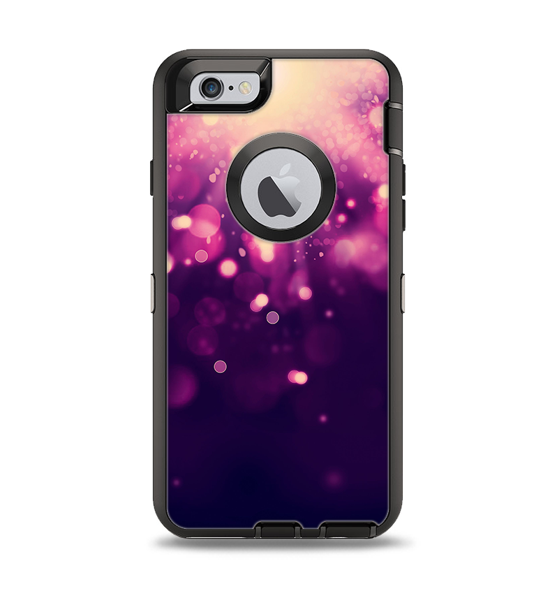 uk availability d2e40 63ba9 The Dark Purple with Desending Lightdrops Apple iPhone 6 Otterbox Defender  Case Skin Set