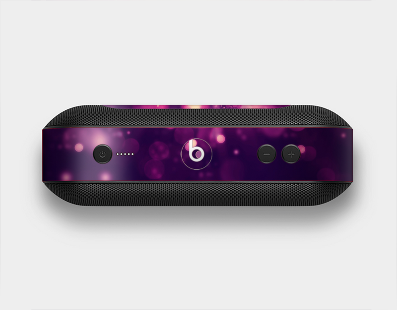 The Dark Purple with Desending Lightdrops Skin Set for the Beats Pill Plus