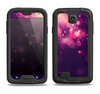 The Dark Purple with Desending Lightdrops Samsung Galaxy S4 LifeProof Fre Case Skin Set