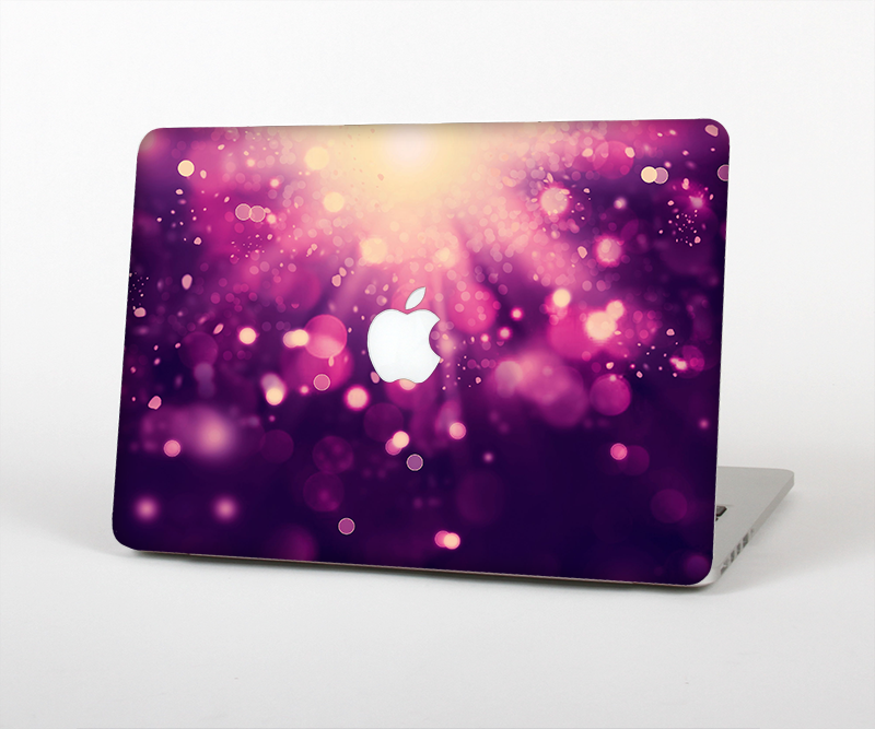 "The Dark Purple with Desending Lightdrops Skin Set for the Apple MacBook Pro 15"" with Retina Display"