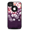 The Dark Purple with Sketched Floral Pattern Skin for the iPhone 4-4s OtterBox Commuter Case
