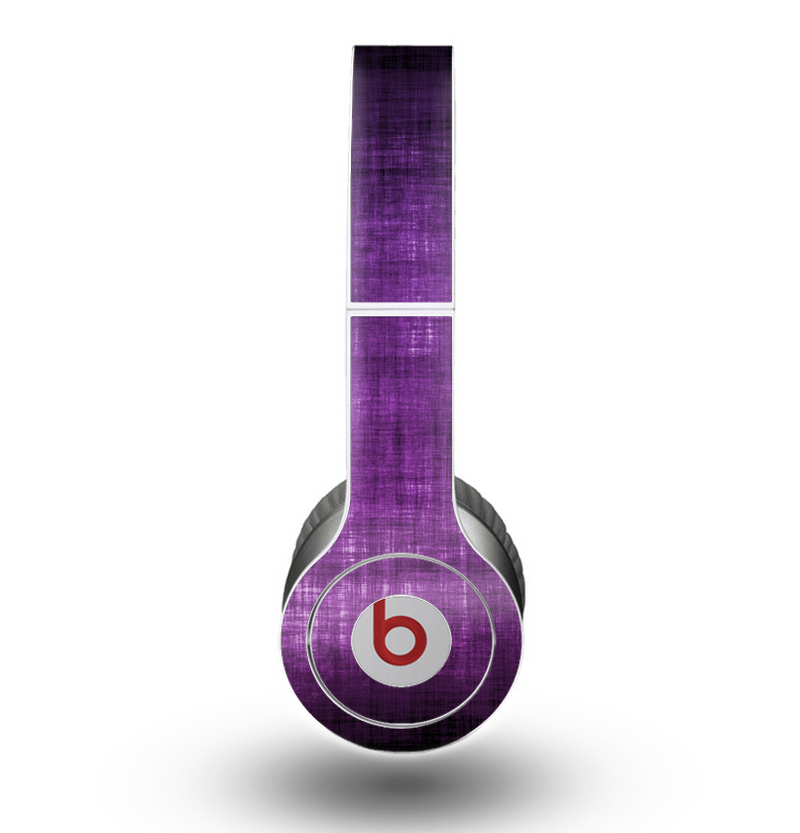 The Dark Purple with Sketched Floral Pattern Skin for the Beats by Dre Original Solo-Solo HD Headphones