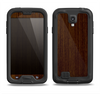The Dark Quartered Wood Samsung Galaxy S4 LifeProof Fre Case Skin Set