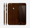 The Dark Quartered Wood Skin for the Apple iPhone 6 Plus