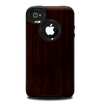 The Dark Quartered Wood Skin for the iPhone 4-4s OtterBox Commuter Case