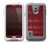 The Dark Red Highlighted Lace Pattern Skin Samsung Galaxy S5 frē LifeProof Case