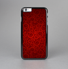 The Dark Red Spiral Pattern V23 Skin-Sert Case for the Apple iPhone 6 Plus