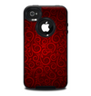 The Dark Red Spiral Pattern V23 Skin for the iPhone 4-4s OtterBox Commuter Case