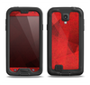 The Dark Red with Translucent Shapes Samsung Galaxy S4 LifeProof Nuud Case Skin Set