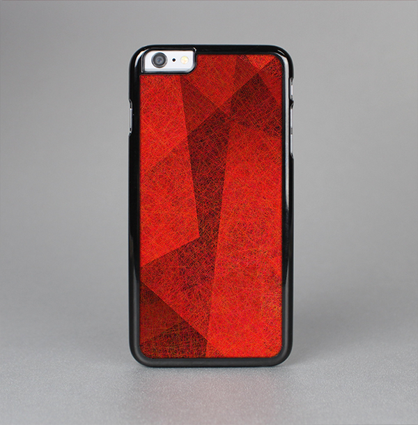 The Dark Red with Translucent Shapes Skin-Sert Case for the Apple iPhone 6 Plus