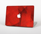 "The Dark Red with Translucent Shapes Skin Set for the Apple MacBook Pro 15"" with Retina Display"