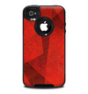The Dark Red with Translucent Shapes Skin for the iPhone 4-4s OtterBox Commuter Case