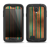 The Dark Smudged Vertical Stripes Samsung Galaxy S4 LifeProof Fre Case Skin Set